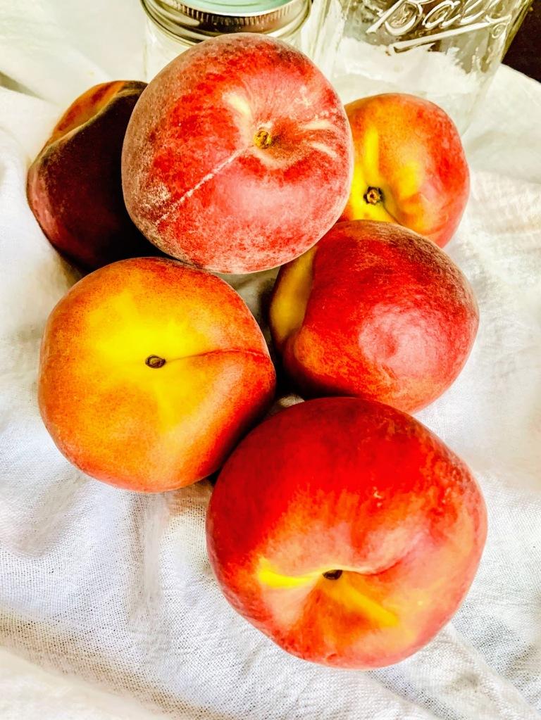 Ripe juicy peaches